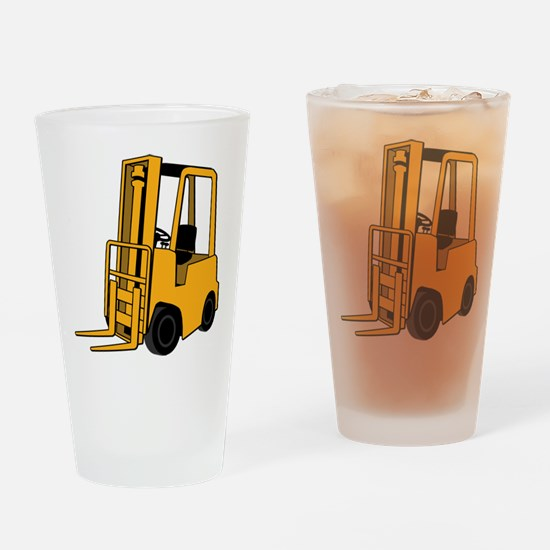 Forklift Drinking Glass