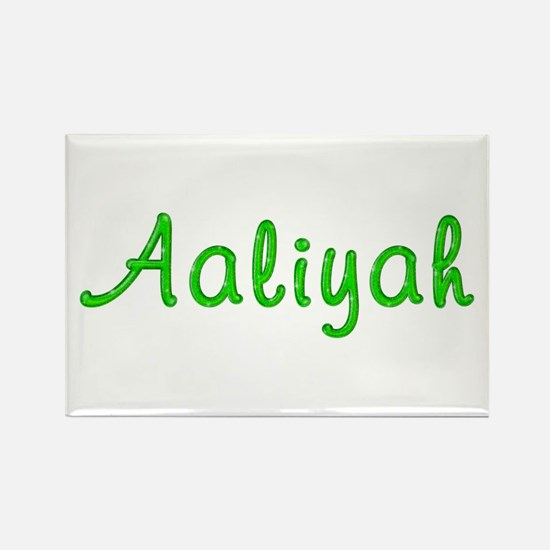 Aaliyah Glitter Gel Rectangle Magnet