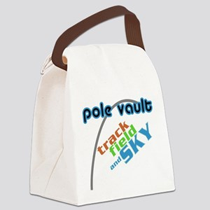 Pole Vault Track Field Sky Canvas Lunch Bag