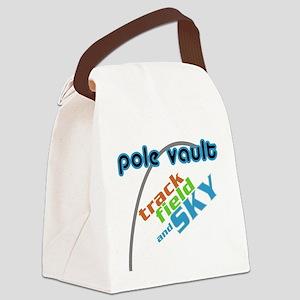 Pole Vault Track Field Sky Canvas Lunch Bag