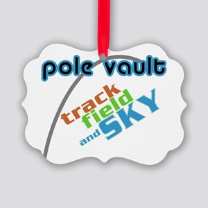 Pole Vault Track Field Sky Picture Ornament