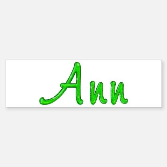 Ann Glitter Gel Bumper Bumper Bumper Sticker