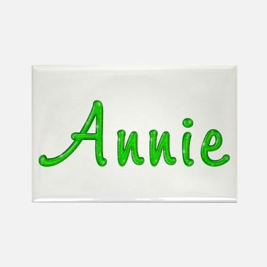 Annie Glitter Gel Rectangle Magnet