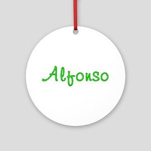 Alfonso Glitter Gel Round Ornament