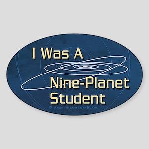 Nine-Planet Pluto Oval Sticker