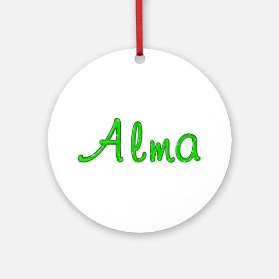Alma Glitter Gel Round Ornament