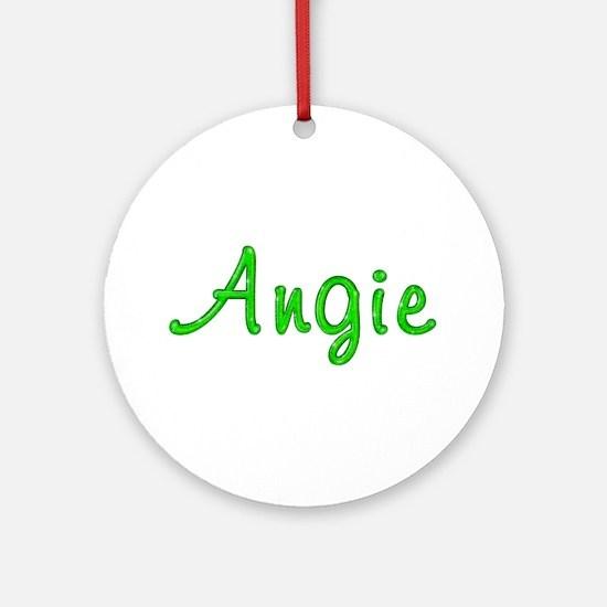 Angie Glitter Gel Round Ornament