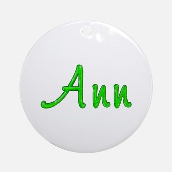 Ann Glitter Gel Round Ornament