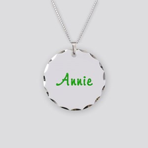 Annie Glitter Gel Necklace Circle Charm