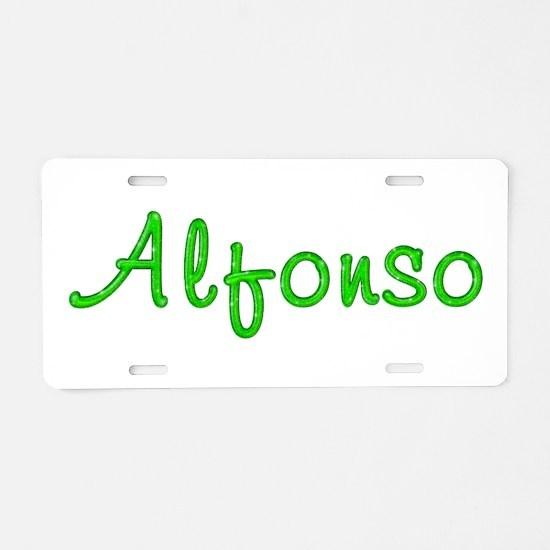 Alfonso Glitter Gel Aluminum License Plate