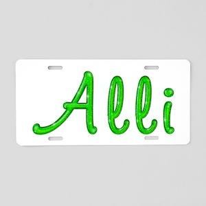 Alli Glitter Gel Aluminum License Plate