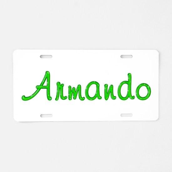 Armando Glitter Gel Aluminum License Plate