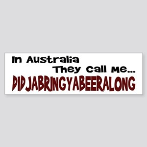 Australian Beer Joke Bumper Sticker