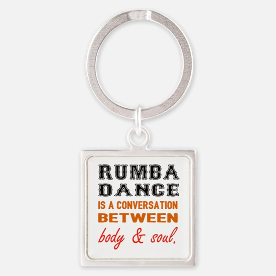 Samba dance is a conversation betw Square Keychain