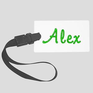 Alex Glitter Gel Large Luggage Tag
