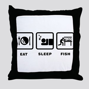 Fish Lover Throw Pillow