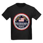 Navy Aunt Kids Dark T-Shirt