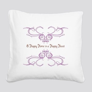A Happy Home Square Canvas Pillow