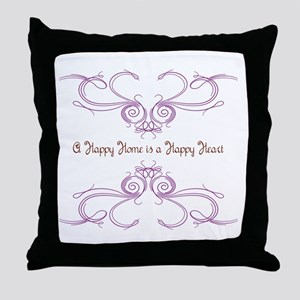 A Happy Home Throw Pillow