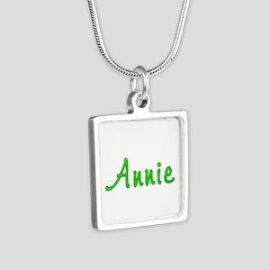 Annie Glitter Gel Silver Square Necklace