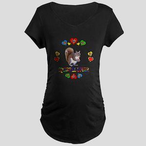 Squirrel Lover Maternity Dark T-Shirt