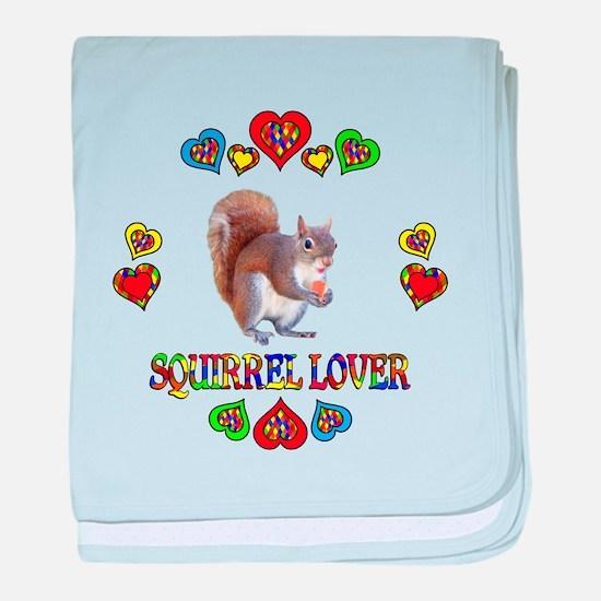 Squirrel Lover baby blanket