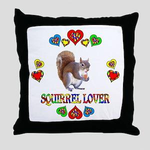 Squirrel Lover Throw Pillow