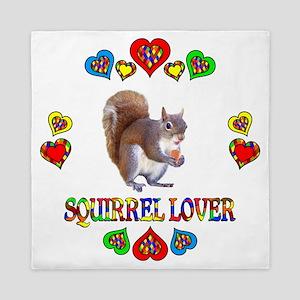 Squirrel Lover Queen Duvet