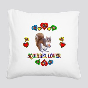 Squirrel Lover Square Canvas Pillow