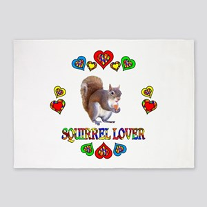 Squirrel Lover 5'x7'Area Rug