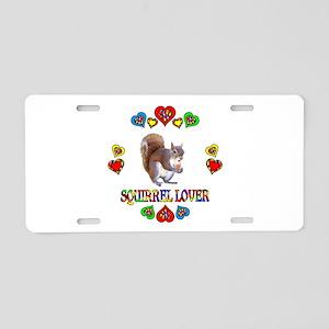 Squirrel Lover Aluminum License Plate