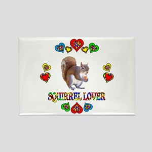 Squirrel Lover Rectangle Magnet