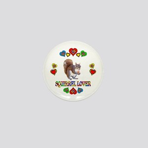 Squirrel Lover Mini Button