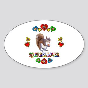 Squirrel Lover Sticker (Oval)