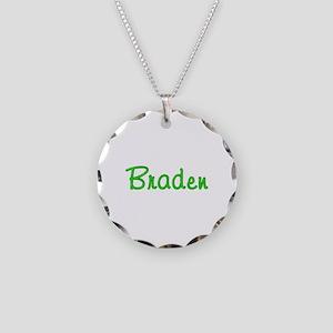 Braden Glitter Gel Necklace Circle Charm