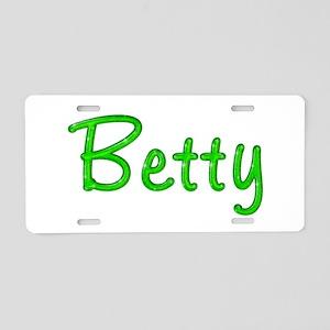 Betty Glitter Gel Aluminum License Plate