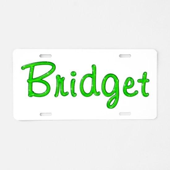 Bridget Glitter Gel Aluminum License Plate