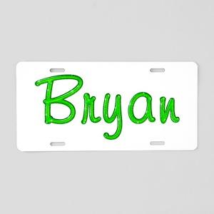 Bryan Glitter Gel Aluminum License Plate