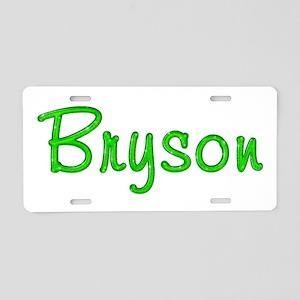 Bryson Glitter Gel Aluminum License Plate
