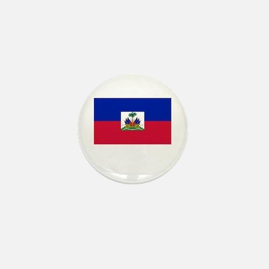Haiti Flag Picture Mini Button