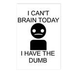 Can't Brain Today Postcards (Package of 8)