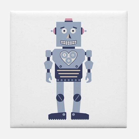 Heart Gear Robot Tile Coaster