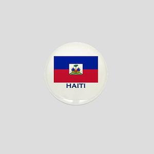 Haiti Flag Gear Mini Button