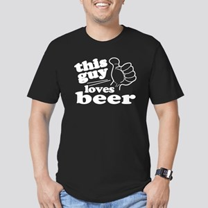 This Guy Loves Beer Men's Fitted T-Shirt (dark)