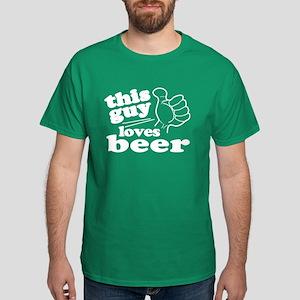 This Guy Loves Beer Dark T-Shirt