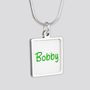 Bobby Glitter Gel Silver Square Necklace