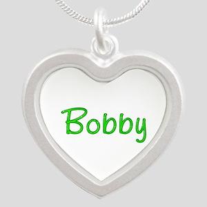 Bobby Glitter Gel Silver Heart Necklace