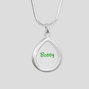 Bobby Glitter Gel Silver Teardrop Necklace