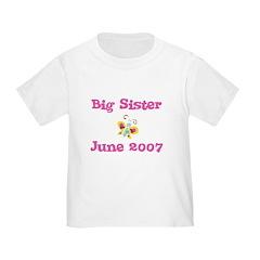 Big Sister June 2007 Toddler Tee