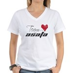 Team Asafa Women's V-Neck T-Shirt - Red